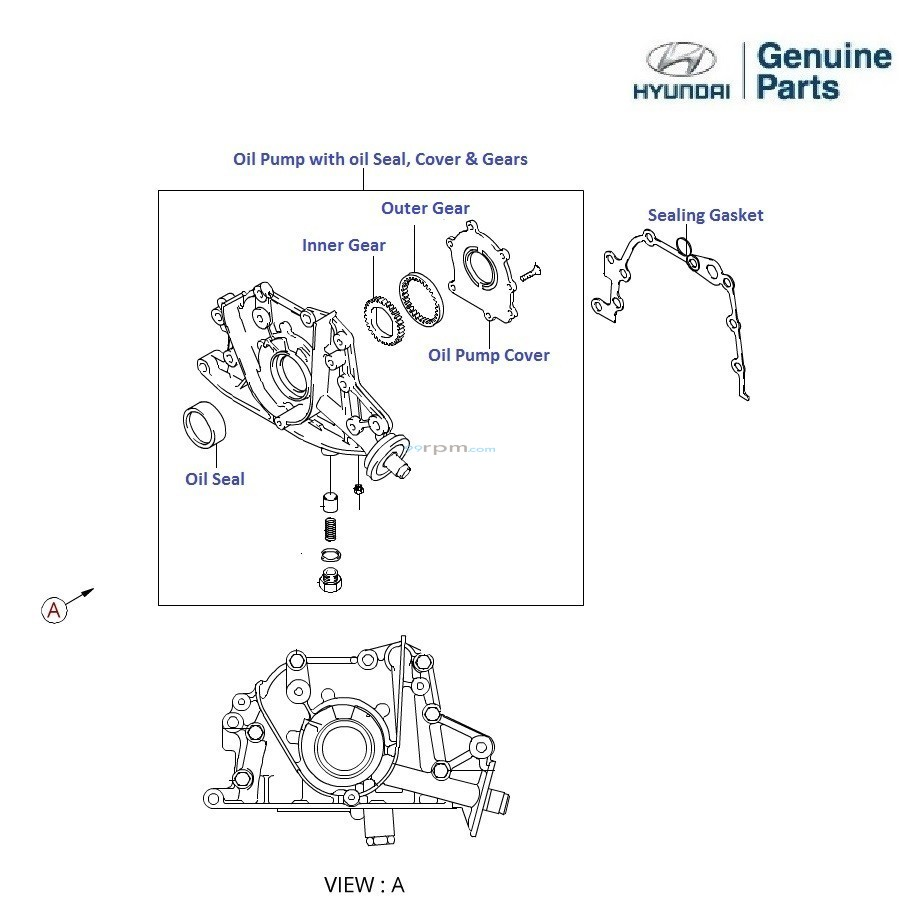 toyota 22re power steering pump diagram