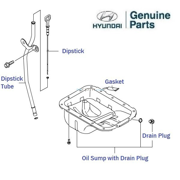 Hyundai 0 8 Eon Oil Sump And Dipstick