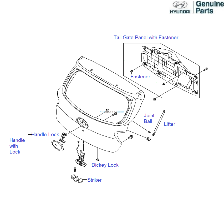 parts of a gate latch  diagrams  wiring diagram images