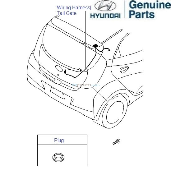 Hyundai Tail Light Wiring Harnes