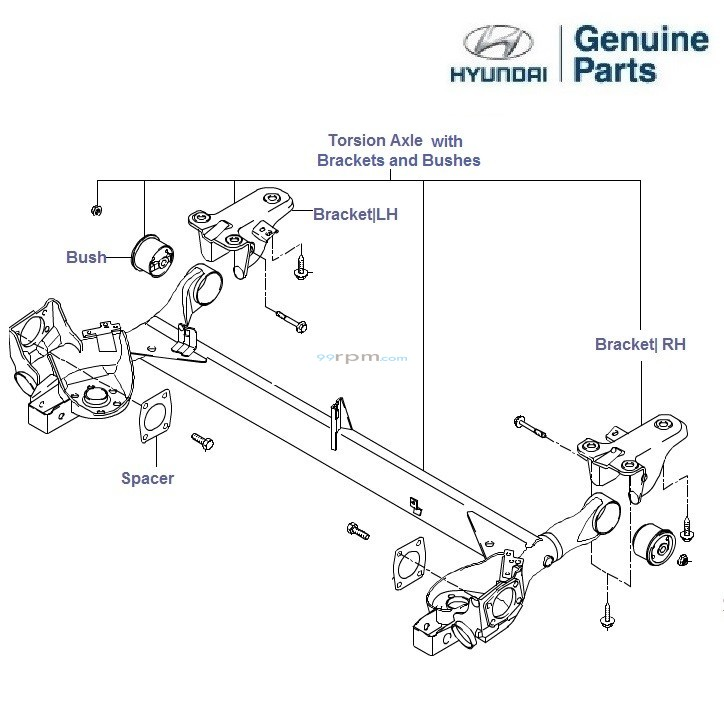 hyundai getz  rear torsion axle