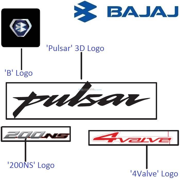 bajaj pulsar 200ns logos