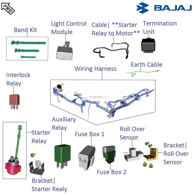 Bajaj Pulsar RS200 DTSi     Wiring      Relays