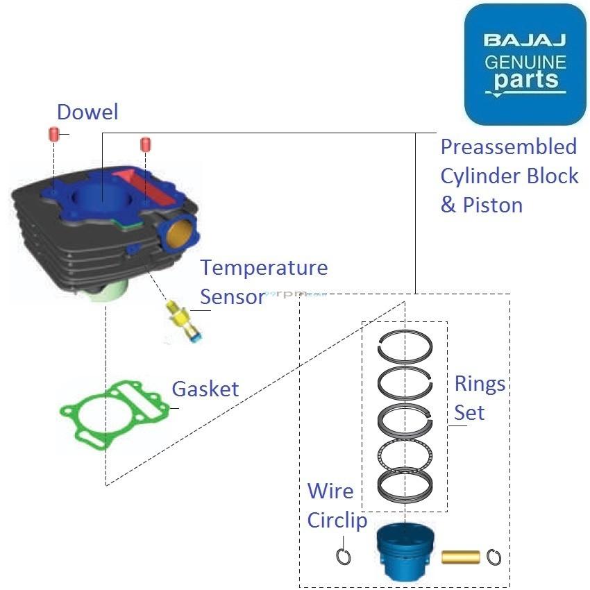 Bajaj pulsar 135ls ug bs4 dtsi cylinder block piston ccuart Image collections