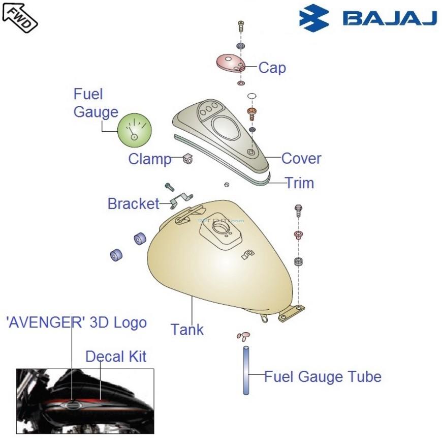 Bajaj Avenger Street 220 Dtsi  Fuel Tank