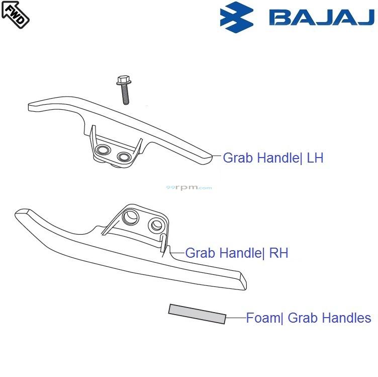 Bajaj Pulsar 220F DTSi: Grab Handle