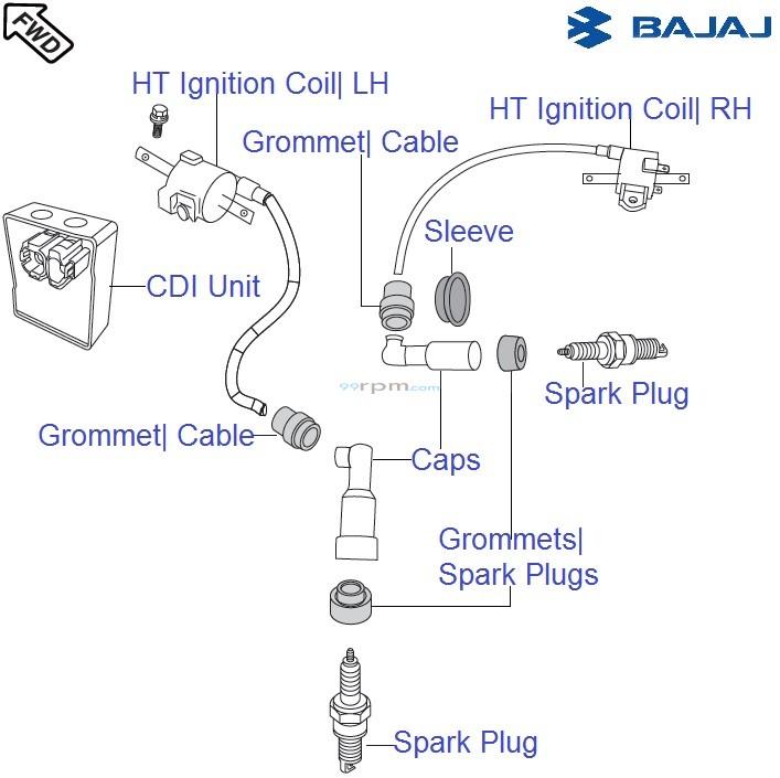 Bajaj Pulsar 150 UG4 DTS-i: HT Ignition Coil & CDI Unit