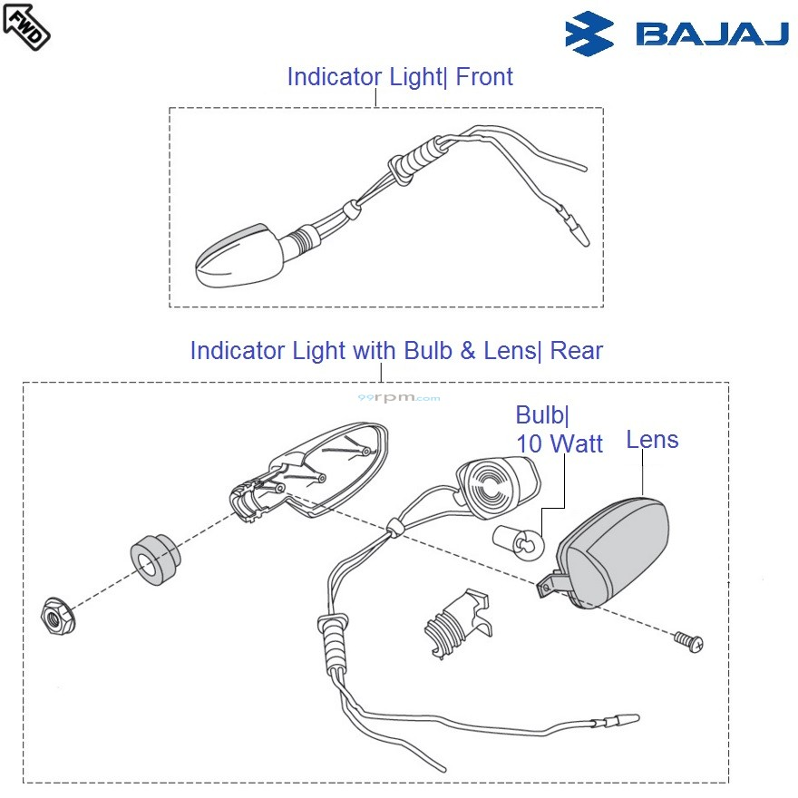 Bajaj Pulsar 150 UG4 DTS-i: Indicator Lights