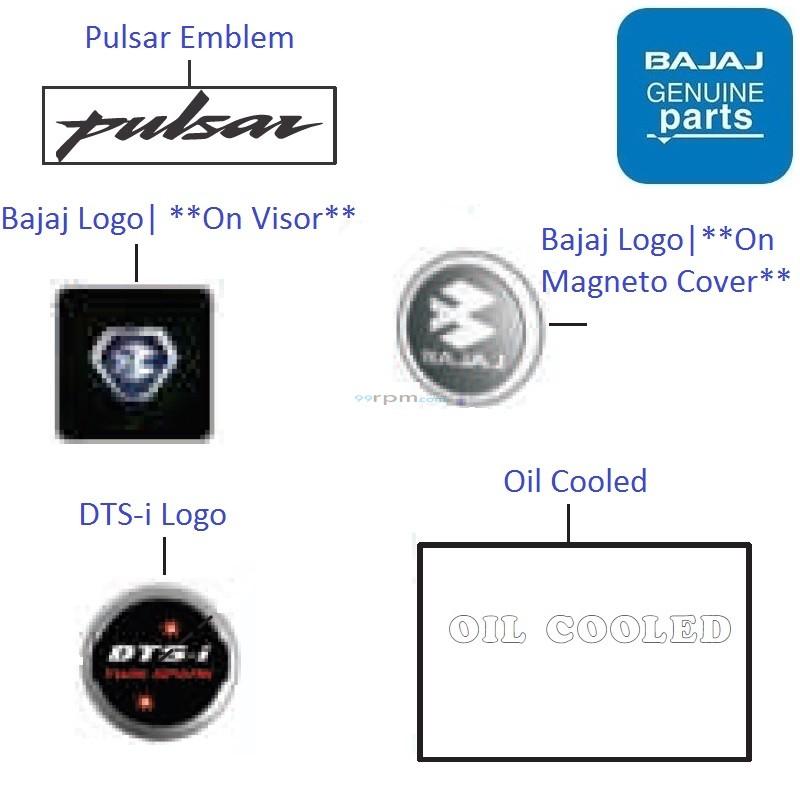 bajaj pulsar ns160 logos amp emblems