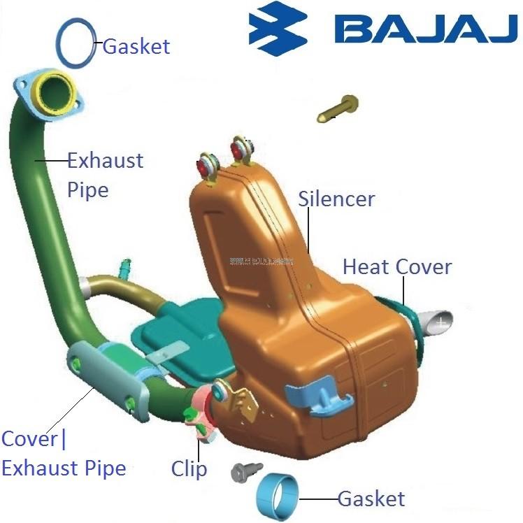 How To Fix Rear View Mirror >> Bajaj Pulsar 200NS: Silencer