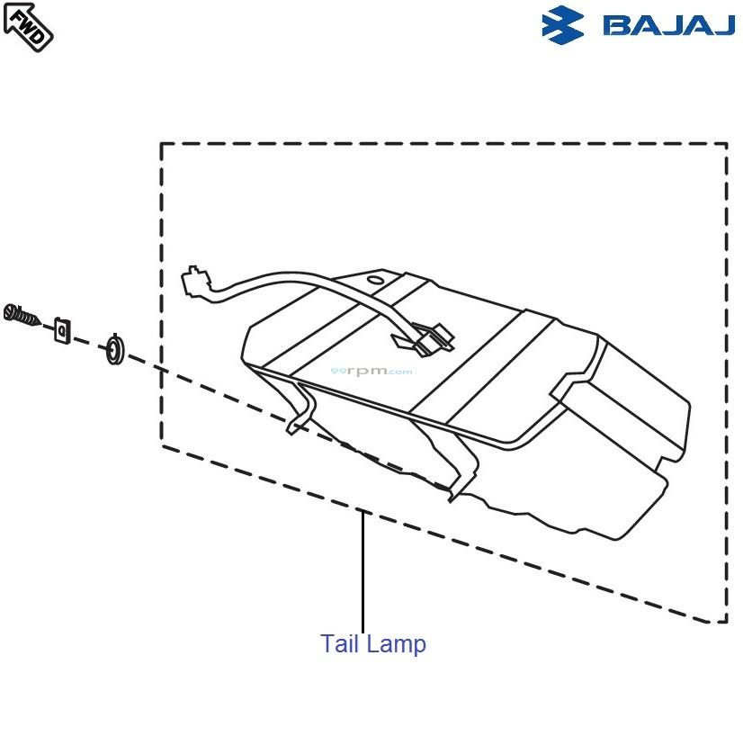 Bajaj Pulsar 150 UG4 DTS-i: Tail Lamp