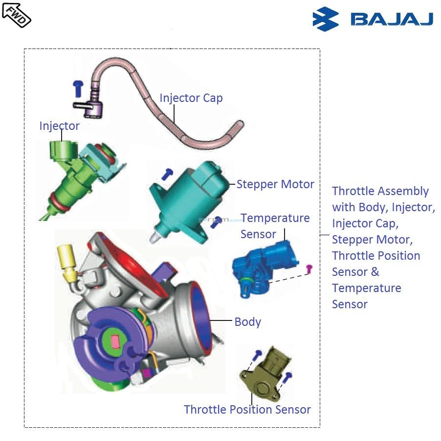 Bajaj Pulsar Rs200 Dtsi Throttle Tbi Injection Wiring Diagram Body
