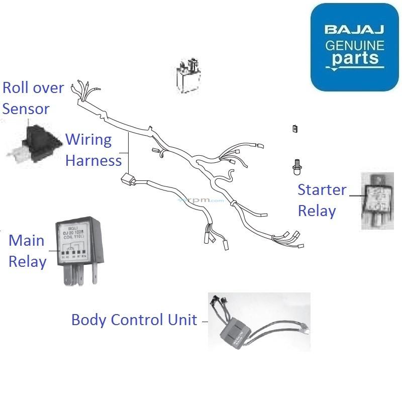 Bajaj Pulsar 220 DTS-Fi: Wiring Harness & Relay on