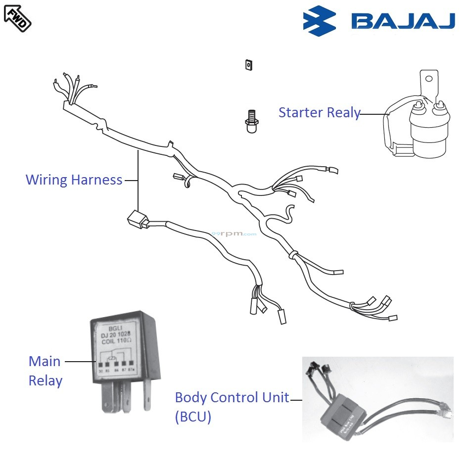 Bajaj Pulsar 220s Dtsi Wiring And Relays Relay Circuit Diagram