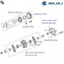 Bajaj Pulsar 220 dts-fi rear view mirror